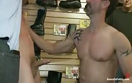 Use and humiliate a blond stud at Stompers Boots.