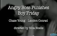 Office Affairs: Angry Boss Punishes Boy Friday