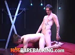 Luke Cross and Brian Woodard fuck bareback